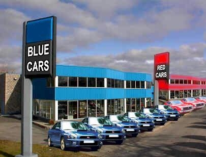 Color-coordinated car sales pic from Cars, driving and traveling, Weird